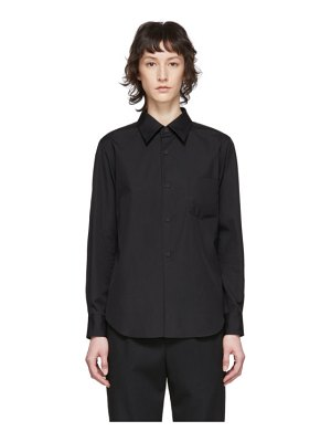 Comme Des Garcons black exaggerated back pleat shirt