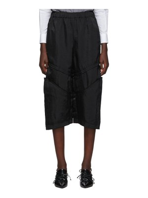 Comme Des Garcons black knee seam detail trousers