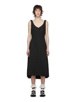 Comme Des Garcons black logo jacquard dress
