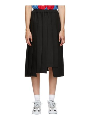 Comme Des Garcons black pleated midi skirt
