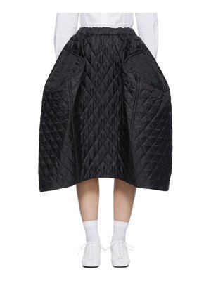 Comme Des Garcons black quilted large skirt
