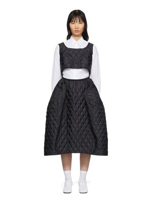 Comme Des Garcons black quilted poly taffeta dress