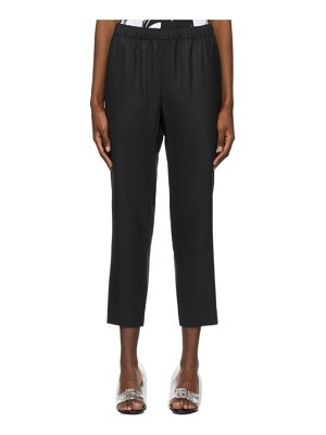 Comme Des Garçons black twill pull-on trousers
