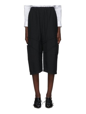 Comme Des Garcons black wool knee detail trousers
