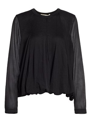 Comme Des Garcons bubble hem long-sleeve shirt
