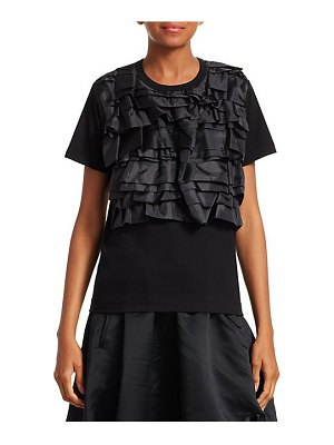 Comme des Garcons Comme des Garcons layered ruffled jersey tee