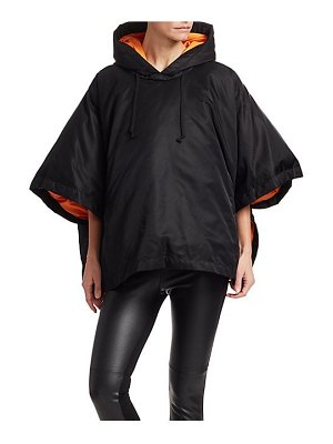 Comme des Garcons Comme des Garcons padded down hooded poncho