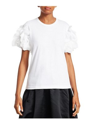 Comme des Garcons Comme des Garcons ruffle-sleeve jersey tee
