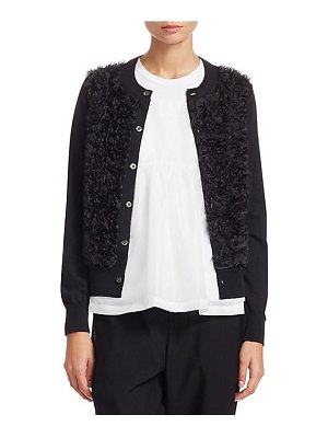Comme des Garcons Comme des Garcons worsted wool textured cardigan