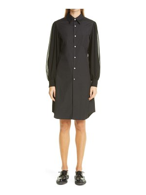 Comme Des Garcons contrast long balloon sleeve shirtdress