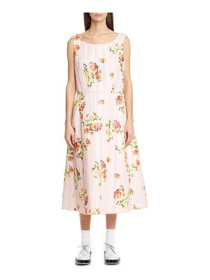 Comme Des Garcons floral quilted satin midi dress