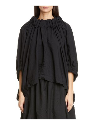 Comme Des Garcons gathered funnel neck top