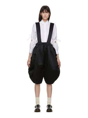 Comme des Garcons Girl black balloon suspender trousers