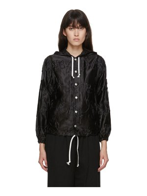 Comme des Garcons Girl black embroidery detail coach jacket