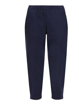 Comme des Garçons GIRL elasticated waist cropped twill trousers