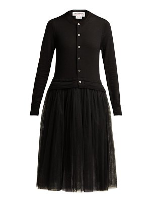 Comme des Garçons GIRL Knitted Wool And Tulle Midi Dress