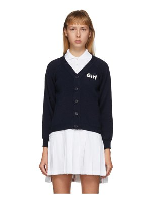 Comme des Garcons Girl navy lochaven of scotland edition girl cardigan