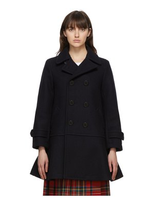 Comme des Garcons Girl navy wool double-breasted coat