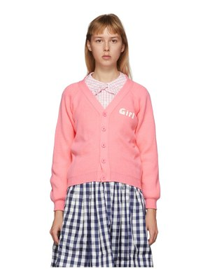 Comme des Garcons Girl pink lochaven of scotland edition girl cardigan