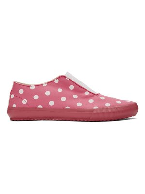 Comme des Garcons Girl pink polka dots sneakers
