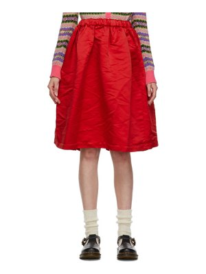 Comme des Garcons Girl red satin ruffle hem skirt