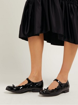 Comme des Garçons GIRL scalloped patent leather mary jane flats