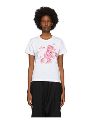 Comme des Garcons Girl white disney edition minnie mouse t-shirt