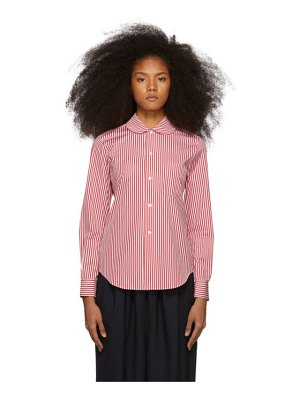 Comme des Garcons Girl red and white striped peter pan collar shirt