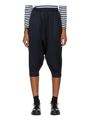 Comme des Garcons Girl navy wool drop inseam trousers