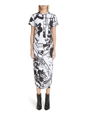 Comme Des Garcons graffiti print t-shirt dress