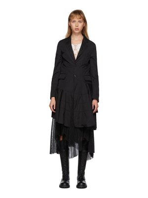 Comme Des Garcons Homme Plus black cotton broadcloth spiral seam coat