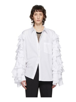 Comme Des Garcons Homme Plus white ruffle sleeve shirt
