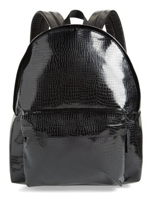 Comme Des Garcons large faux leather backpack