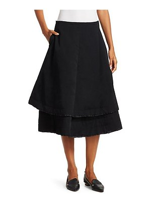 Comme Des Garcons layered wool gabardine a-line skirt