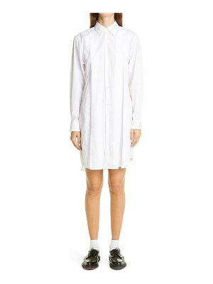 Comme Des Garcons long sleeve cotton shirtdress