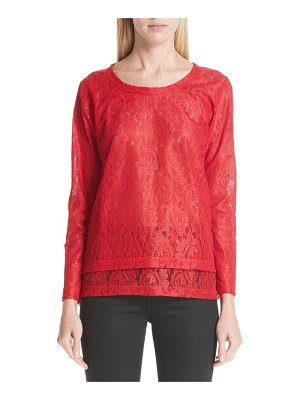Comme Des Garcons long sleeve lace top