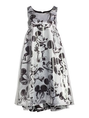 Comme Des Garcons mickey mouse satin dress