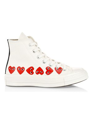 Comme Des Garcons PLAY multi heart high-top canvas sneakers