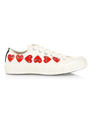 Comme Des Garcons PLAY multi heart low-top canvas sneakers