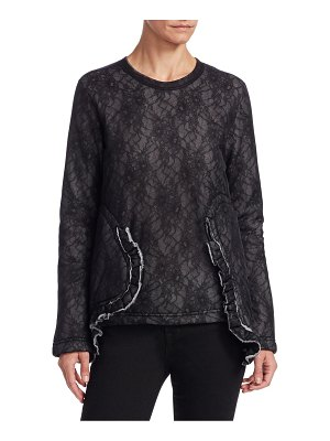 Comme Des Garcons Padded Lace Ruffle Top