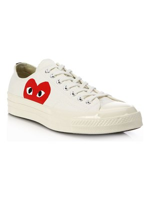 Comme Des Garcons PLAY peek-a-boo canvas low-top sneakers