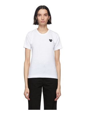 Comme Des Garcons PLAY and black heart patch t-shirt