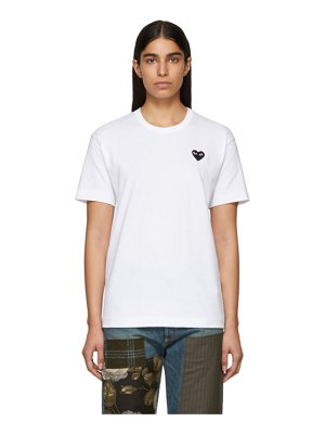 Comme Des Garcons PLAY and black mens fit heart patch t-shirt