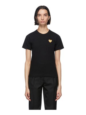 Comme Des Garcons PLAY and gold heart patch t-shirt