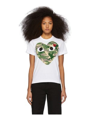 Comme Des Garcons PLAY and red camo heart t-shirt