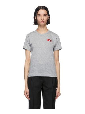 Comme Des Garcons PLAY and red double hearts t-shirt