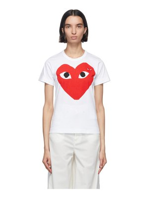 Comme Des Garcons PLAY and red double large hearts t-shirt