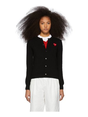 Comme Des Garcons PLAY and red heart cardigan