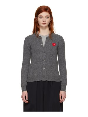 Comme Des Garçons Play and Red Heart Cardigan