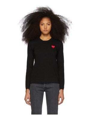 Comme Des Garcons PLAY and red heart patch long sleeve t-shirt